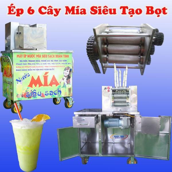 Xe Nuoc Mia 6 Cay Sieu Tao Bot